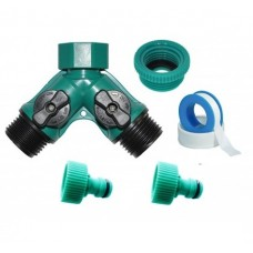 """TWO WAY CONTROL Y ADAPTER 3/4""""FXM-WITH GARDEN HOSE ADAPTERS(Code-525)"""
