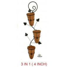 "COCO FIBER 3 IN 1 WALL MOUNTING POTS 5"" Wx 7""H"