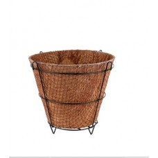 "COCO FIBER  PLANTER POT 6"" W x 6""H WITH METAL FRAME"