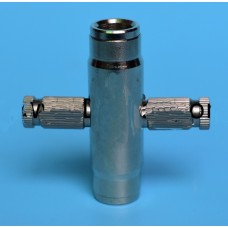 "BRASS SLIP LOCK STRAIGHT CONNECTOR WITH TWO HOLES FOR 3/8""(9.525mm) TUBE"