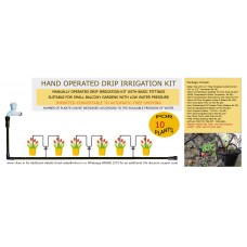 HAND OPERATED DRIP IRRIGATION KIT FOR 10 PLANTS (L)
