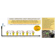 HAND OPERATED DRIP IRRIGATION KIT FOR 20 PLANTS (L)