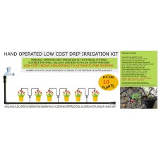 HAND OPERATED LOW COST DRIP IRRIGATION KIT FOR 10 PLANTS (L)