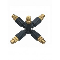 FIVE WAY COPPER MICRO SPRAYER WITH 0.8mm NOZZLE AND 4MM PLUG IN SOCKET