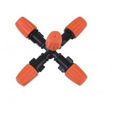 """FIVE OUTLET 0.6MM FOGGER ORANGE WITH 1/2"""" MALE"""
