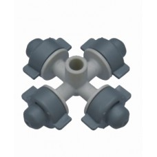 FOUR OUTLET MICRO SPRAYER GRAY COLOR WITH 4MM ADAPTERS
