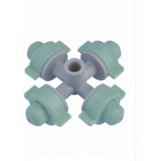 FOUR OUTLET MICRO SPRAYER LIGHT GREEN WITH 7MM MOUTH DIAMETER