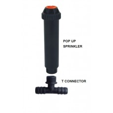"""POP UP SPRINKLER WITH  RED NOZZLE AND 1/2"""" FEMALE*"""