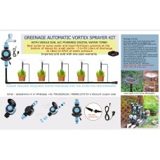 AUTOMATIC VORTEX SPRAYER KIT WITH SINGLE DIAL  A/C POWERED DIGITAL WATER TIMER